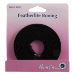 H696.8.B Featherlite Boning: Black - 2m x 8mm